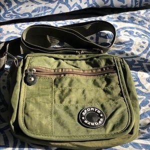 Olive green small crossbody purse